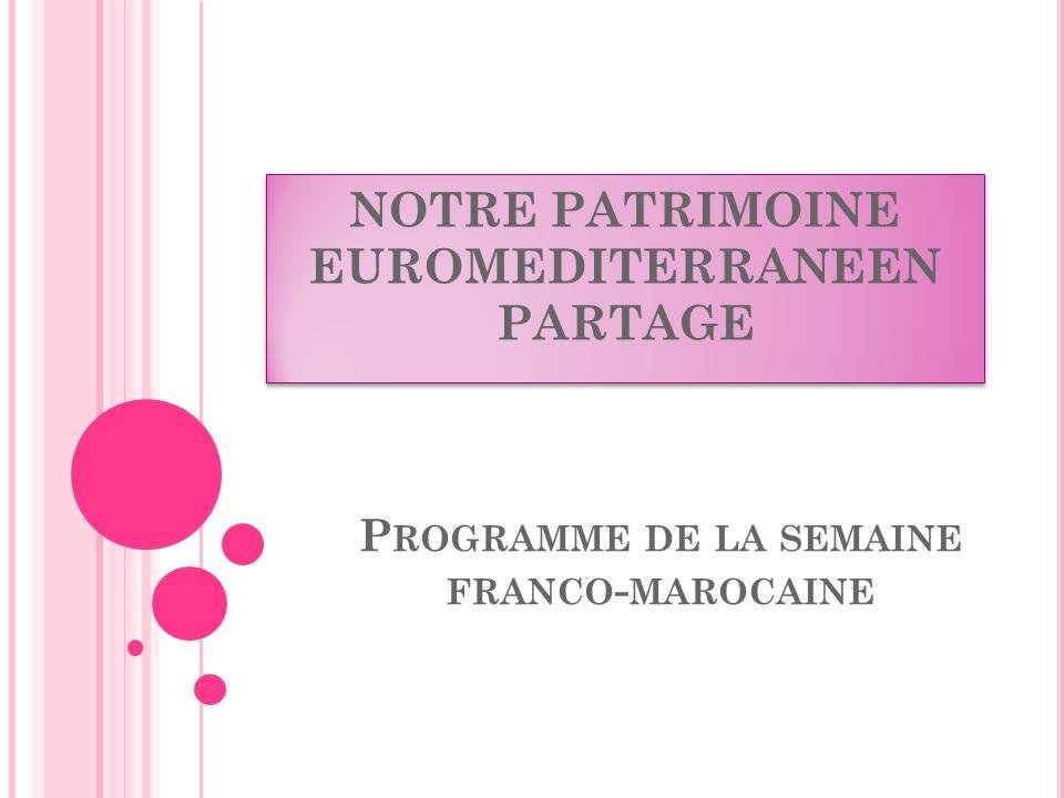 Programme de la semaine franco-marocaine