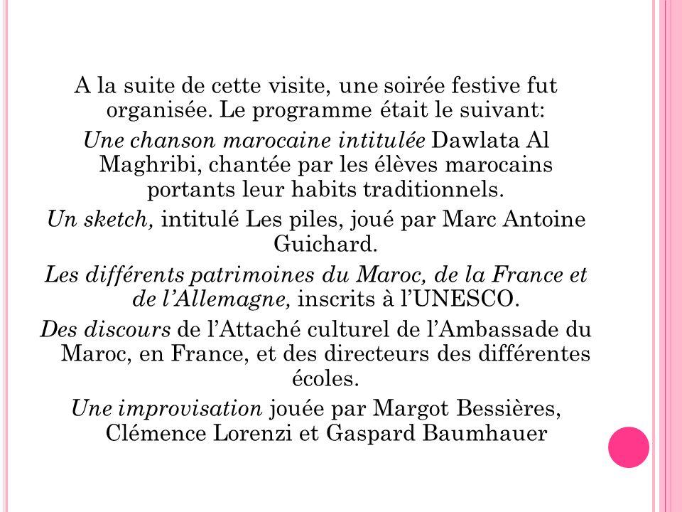 Un sketch, intitulé Les piles, joué par Marc Antoine Guichard.