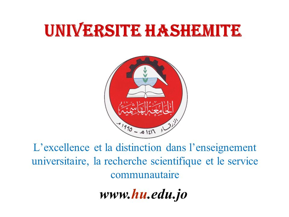 UNIVERSITE HASHEMITE www.hu.edu.jo