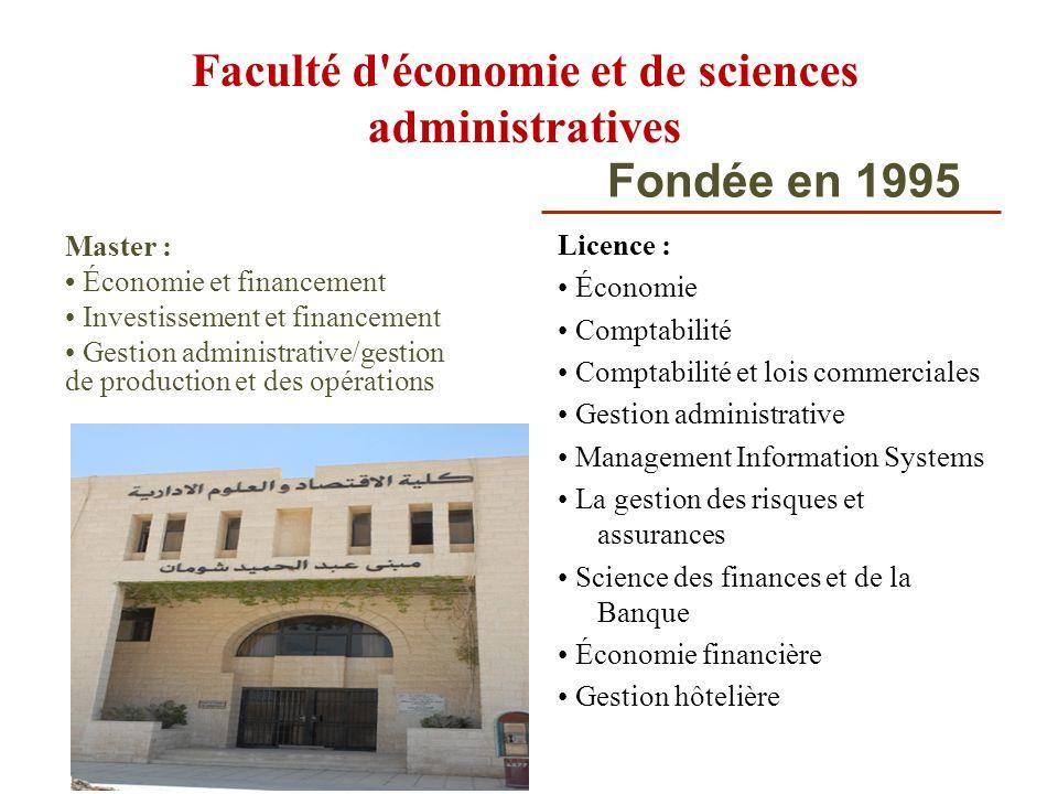 Faculté d économie et de sciences administratives
