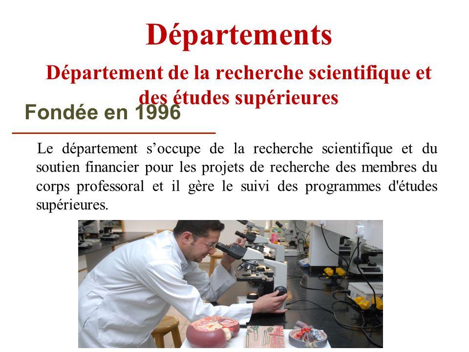 Département de la recherche scientifique et des études supérieures
