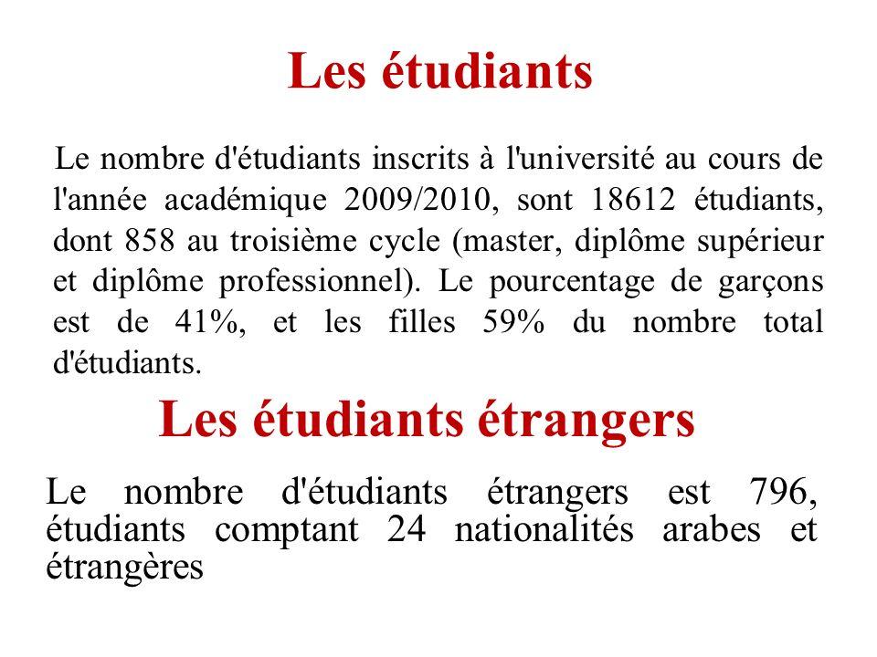 Les étudiants étrangers