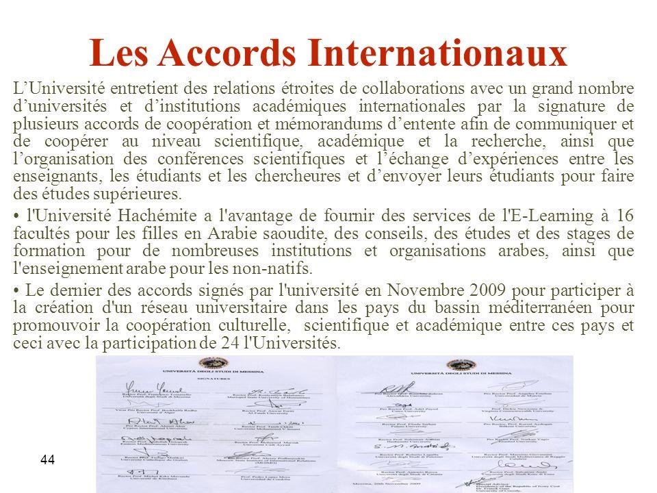 Les Accords Internationaux