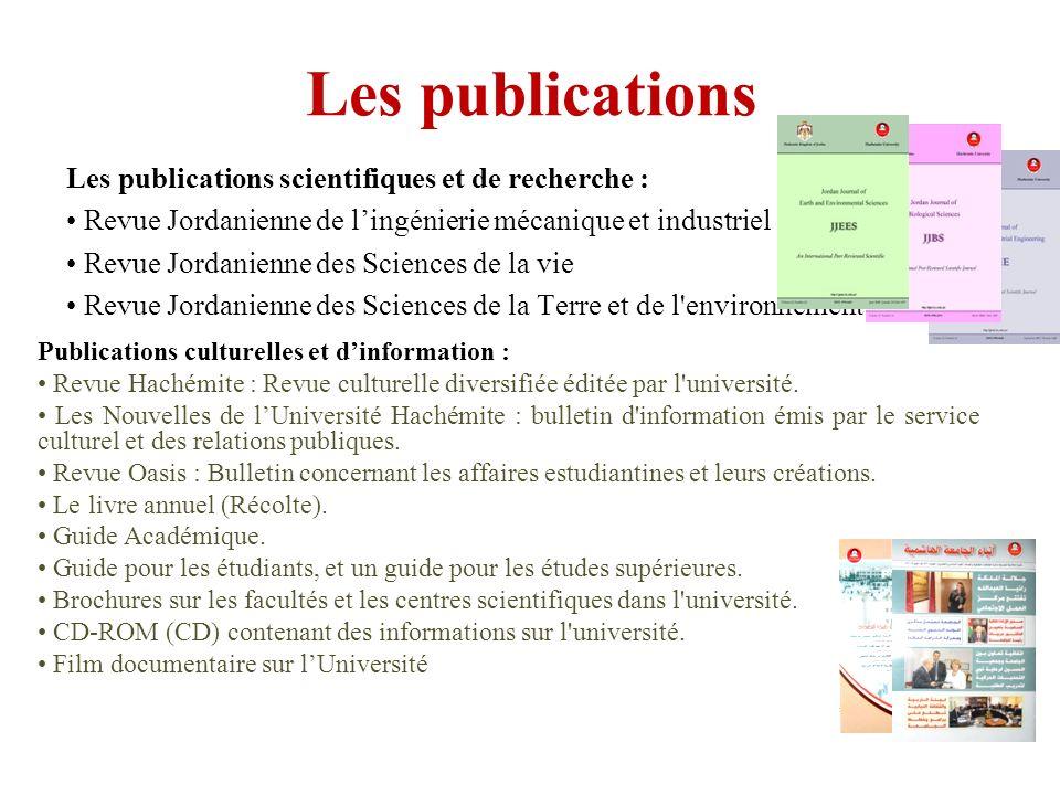 Les publications Les publications scientifiques et de recherche :
