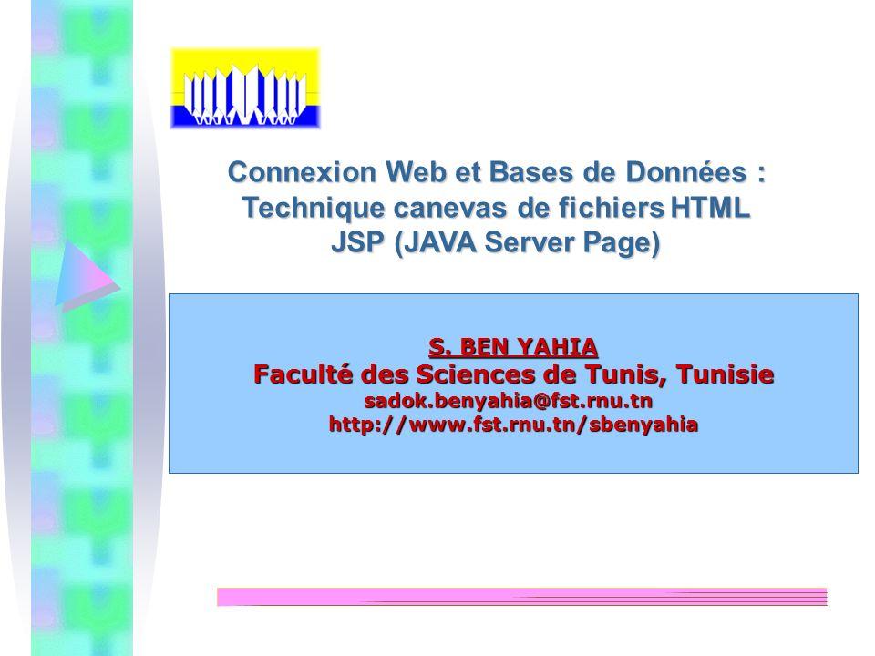 Connexion Web et Bases de Données : Technique canevas de fichiers HTML
