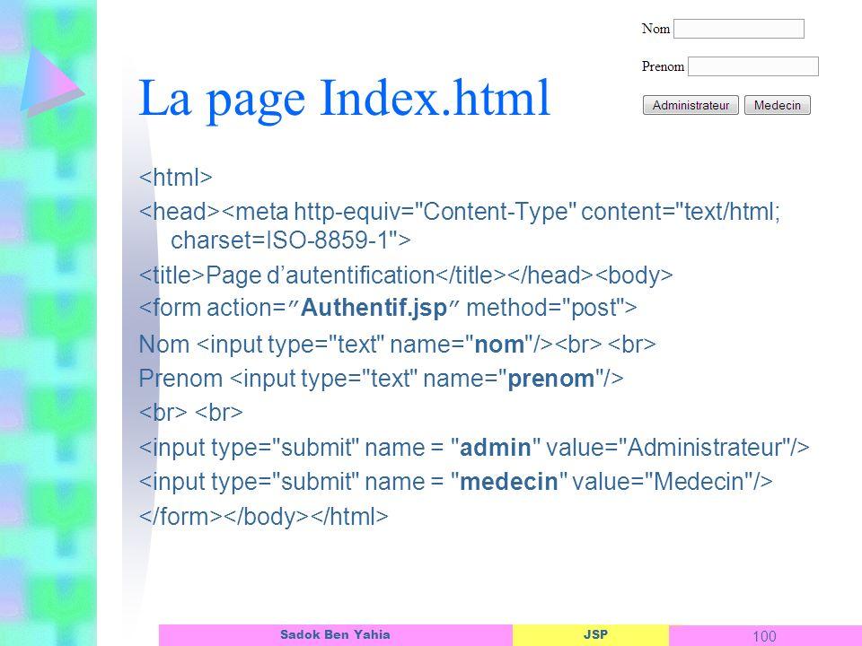 La page Index.html