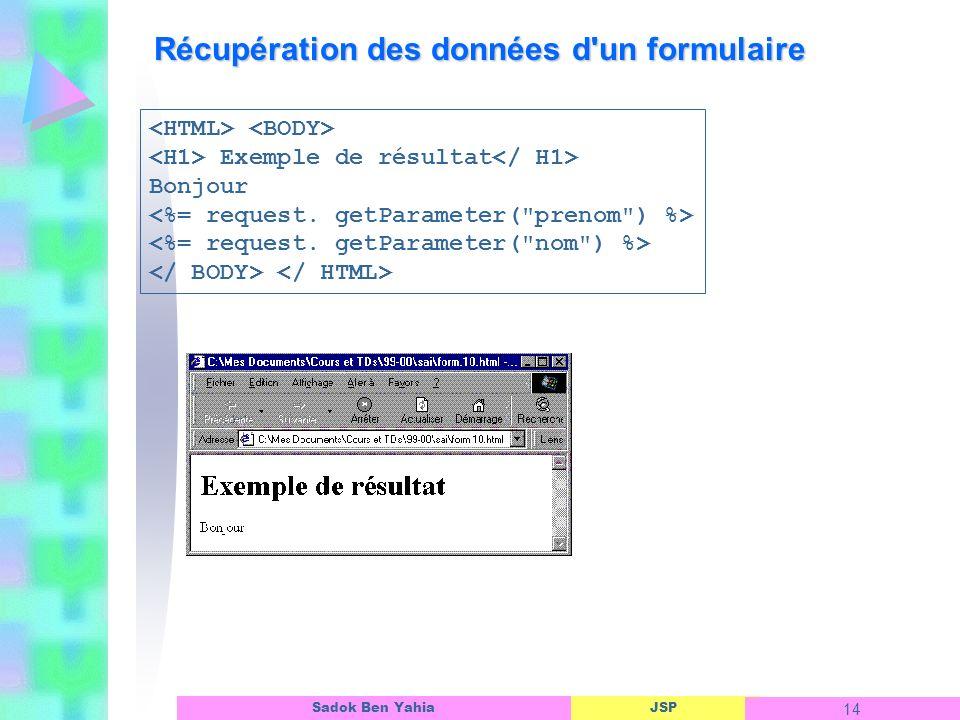 Récupération des données d un formulaire