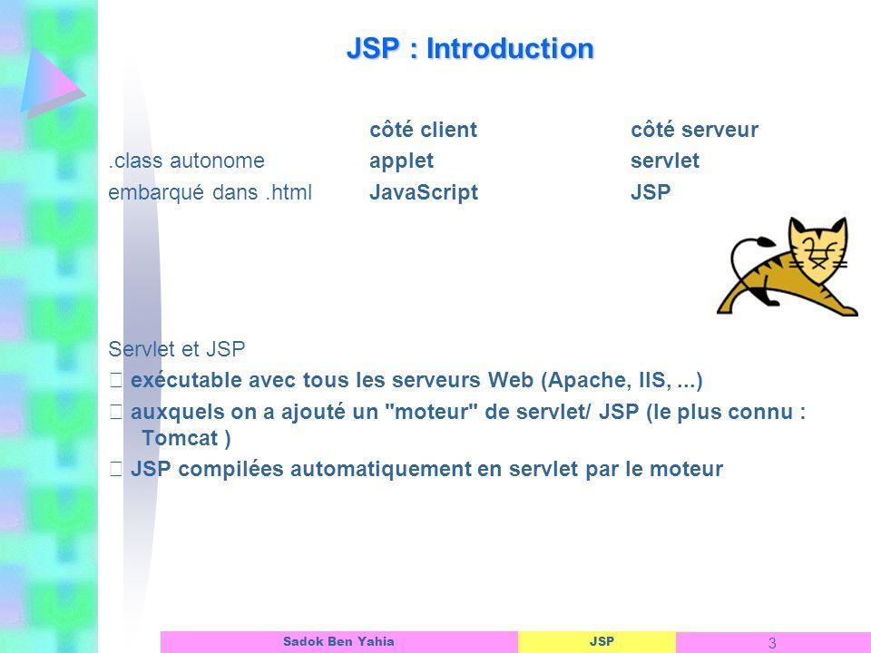 JSP : Introduction côté client côté serveur