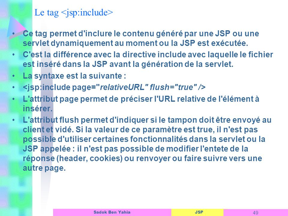 Le tag <jsp:include>