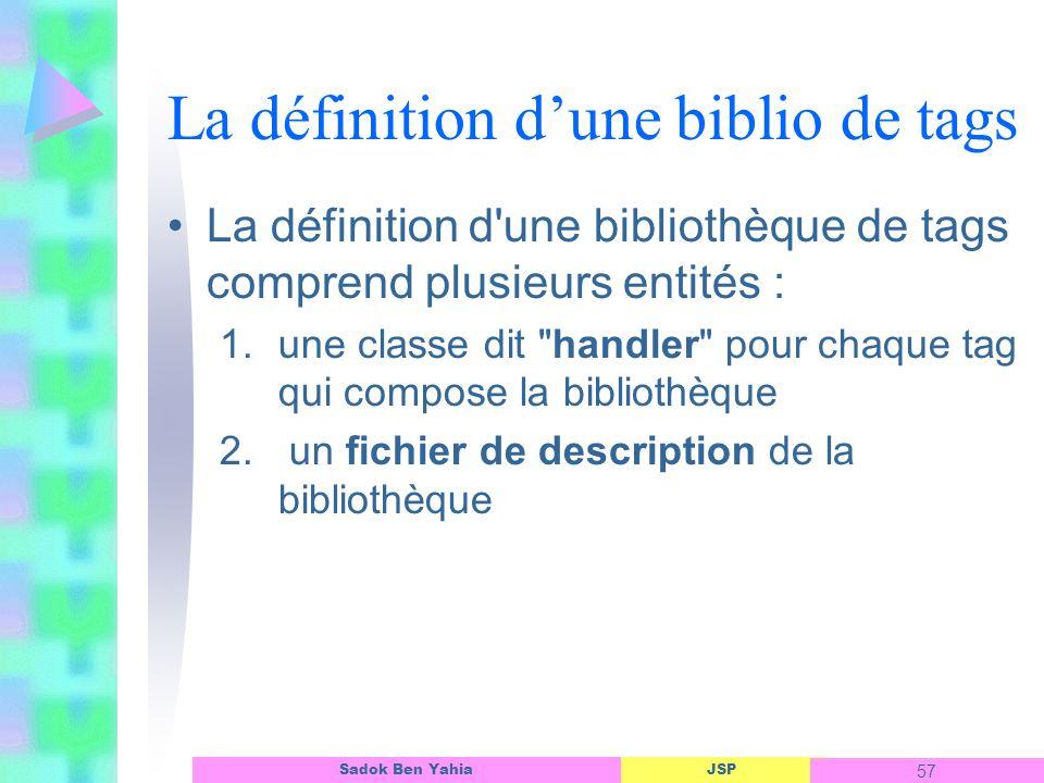 La définition d'une biblio de tags