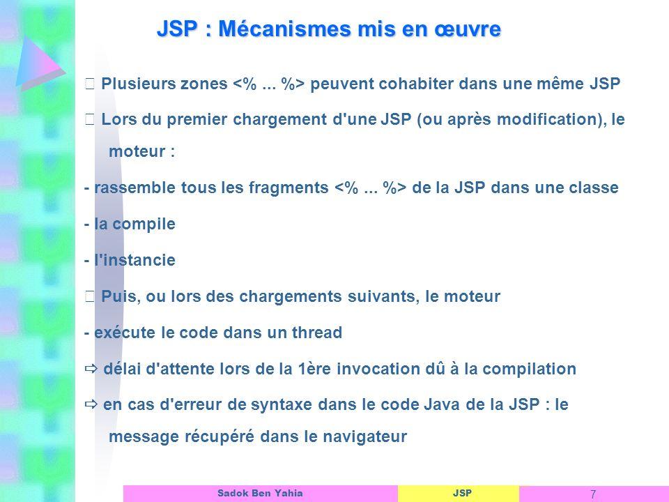 JSP : Mécanismes mis en œuvre