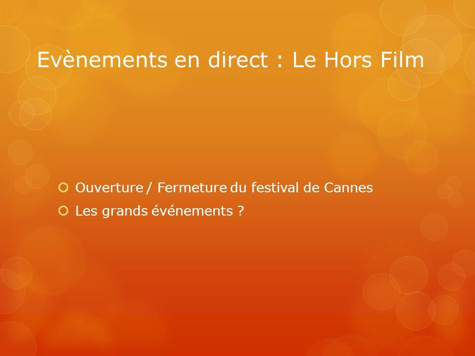 Evènements en direct : Le Hors Film