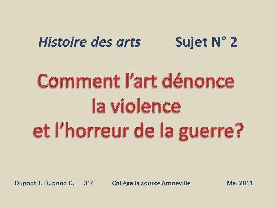 Histoire des arts Sujet N° 2