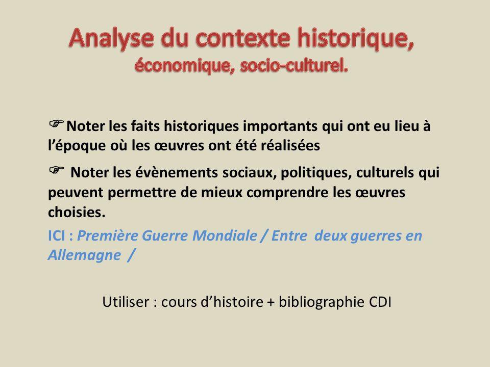 Analyse du contexte historique, économique, socio-culturel.