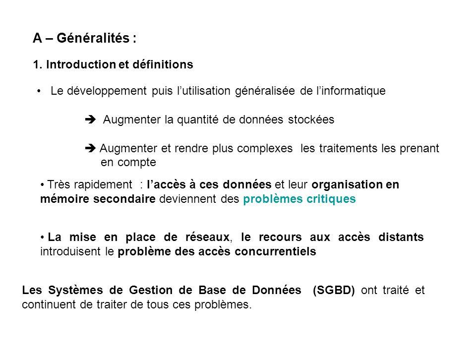 A – Généralités : 1. Introduction et définitions