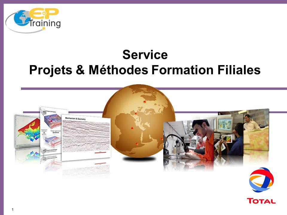 Service Projets & Méthodes Formation Filiales