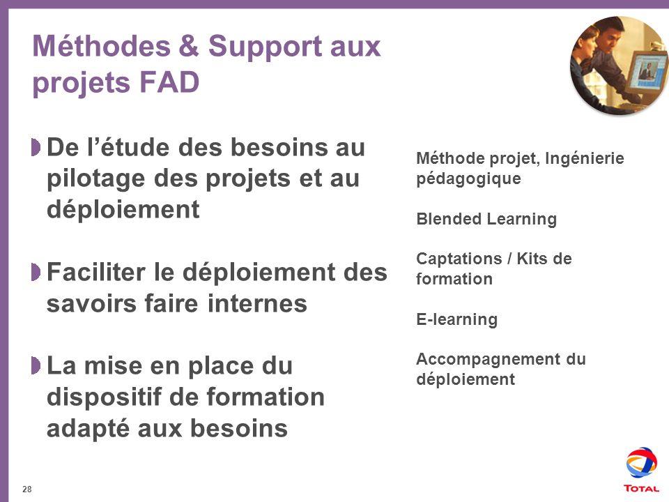 Méthodes & Support aux projets FAD