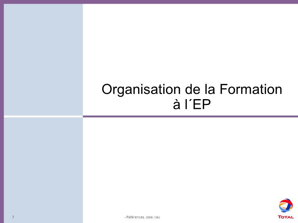 Organisation de la Formation à l´EP