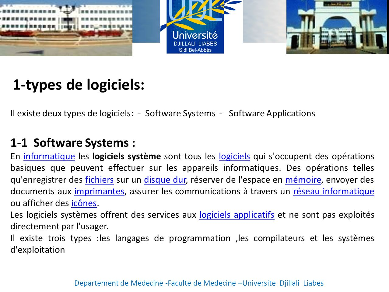 1-types de logiciels: 1-1 Software Systems :
