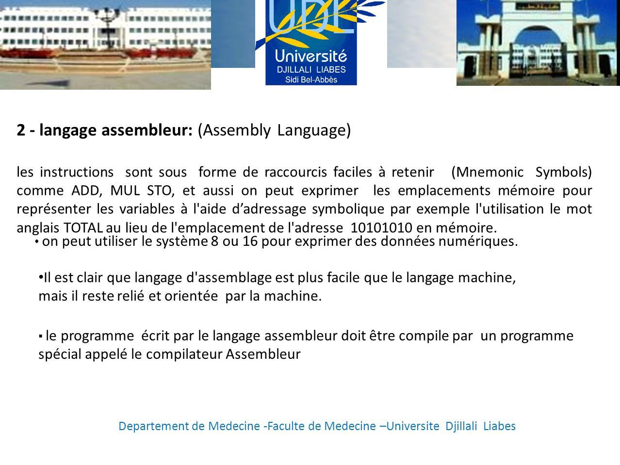 2 - langage assembleur: (Assembly Language)