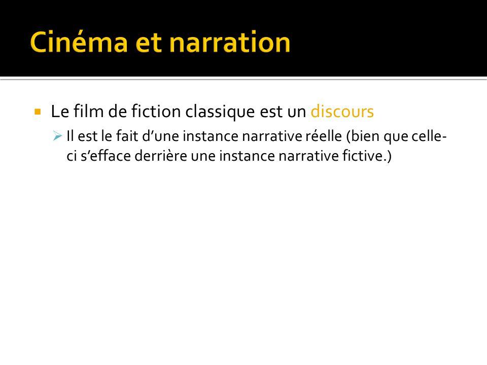 Cinéma et narration Le film de fiction classique est un discours