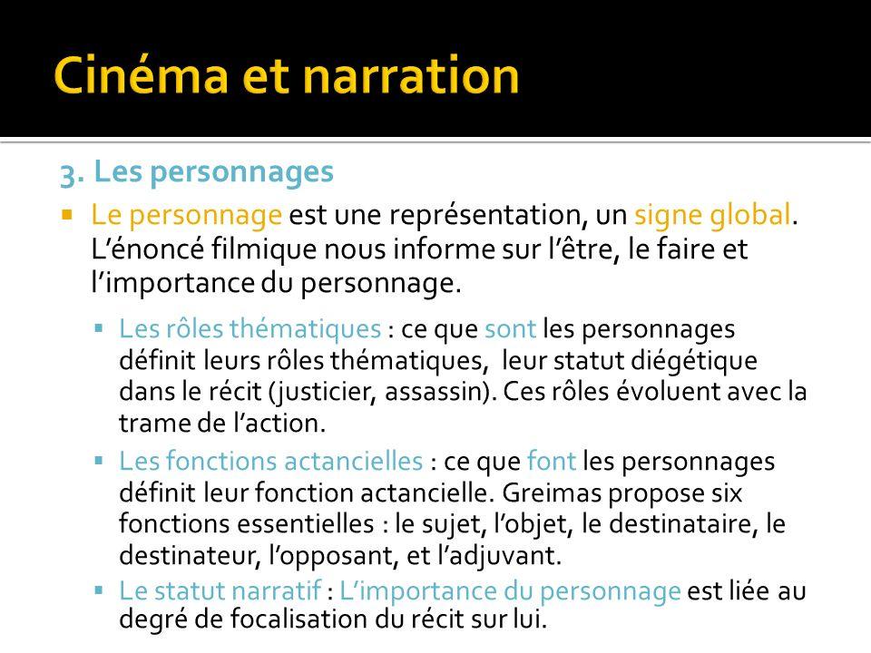 Cinéma et narration 3. Les personnages