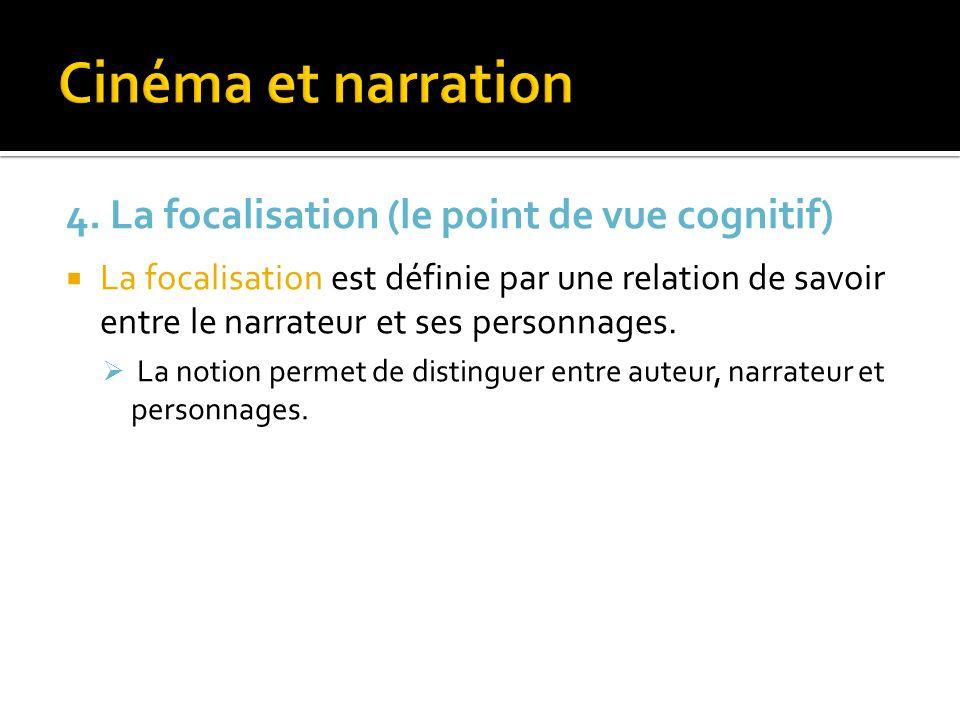 Cinéma et narration 4. La focalisation (le point de vue cognitif)