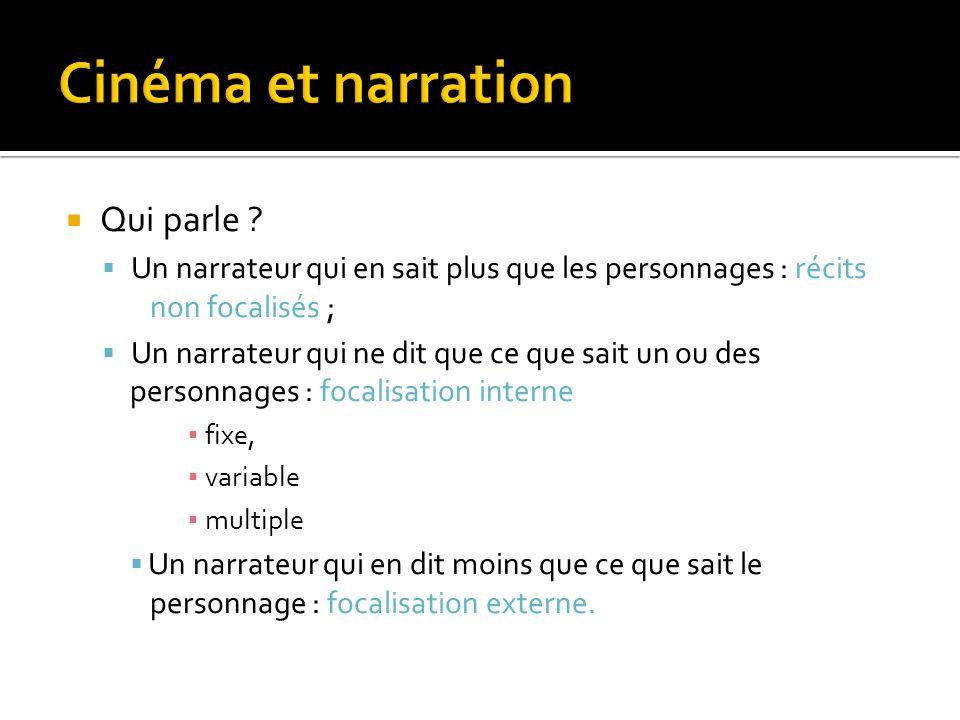 Cinéma et narration Qui parle