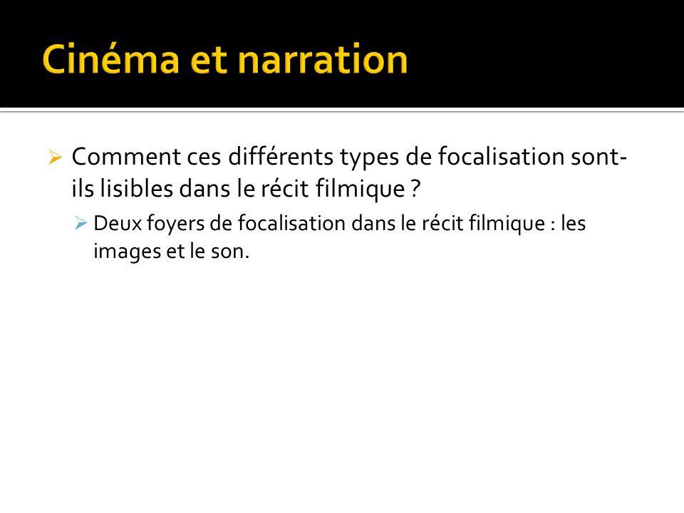 Cinéma et narration Comment ces différents types de focalisation sont-ils lisibles dans le récit filmique