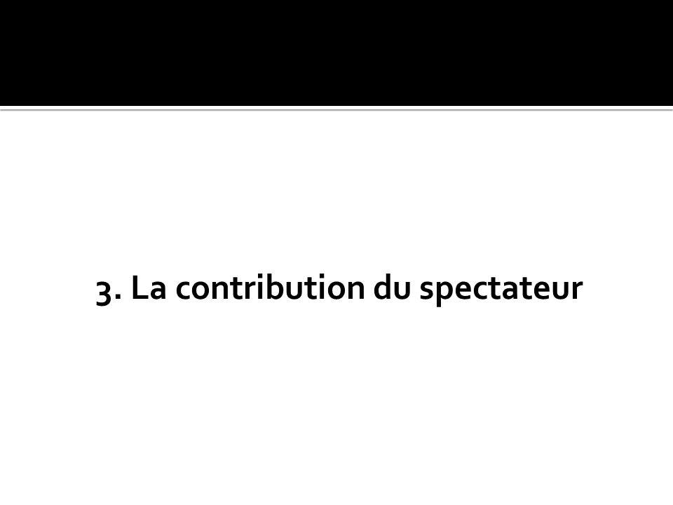 3. La contribution du spectateur