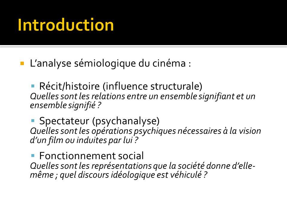 Introduction L'analyse sémiologique du cinéma :