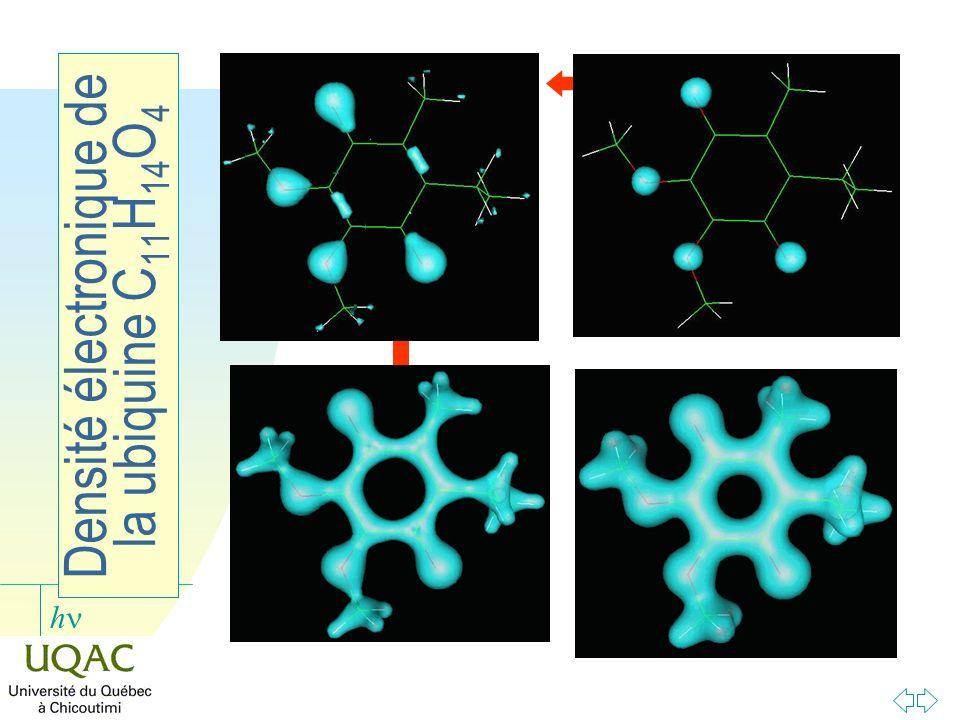 Densité électronique de la ubiquine C11H14O4