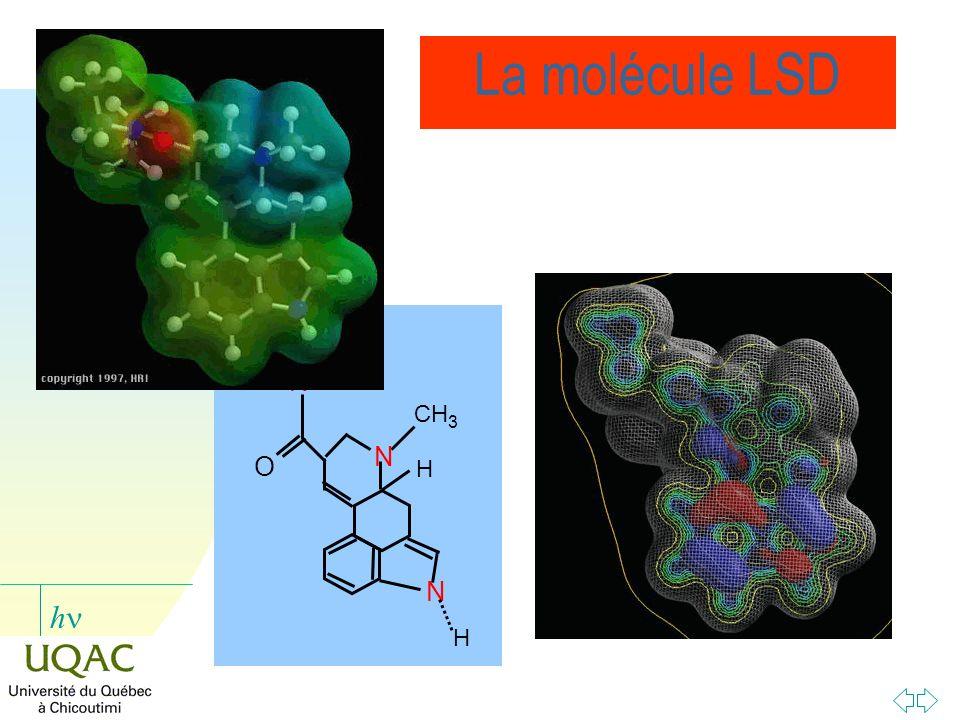 La molécule LSD N H O CH3