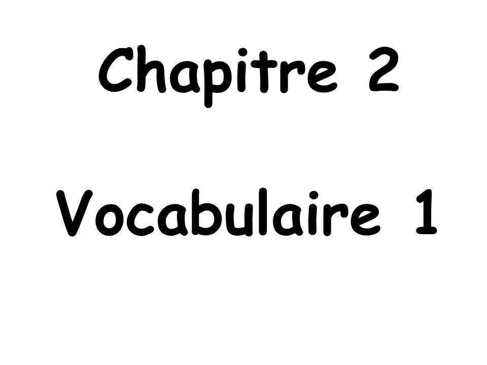 Chapitre 2 Vocabulaire 1