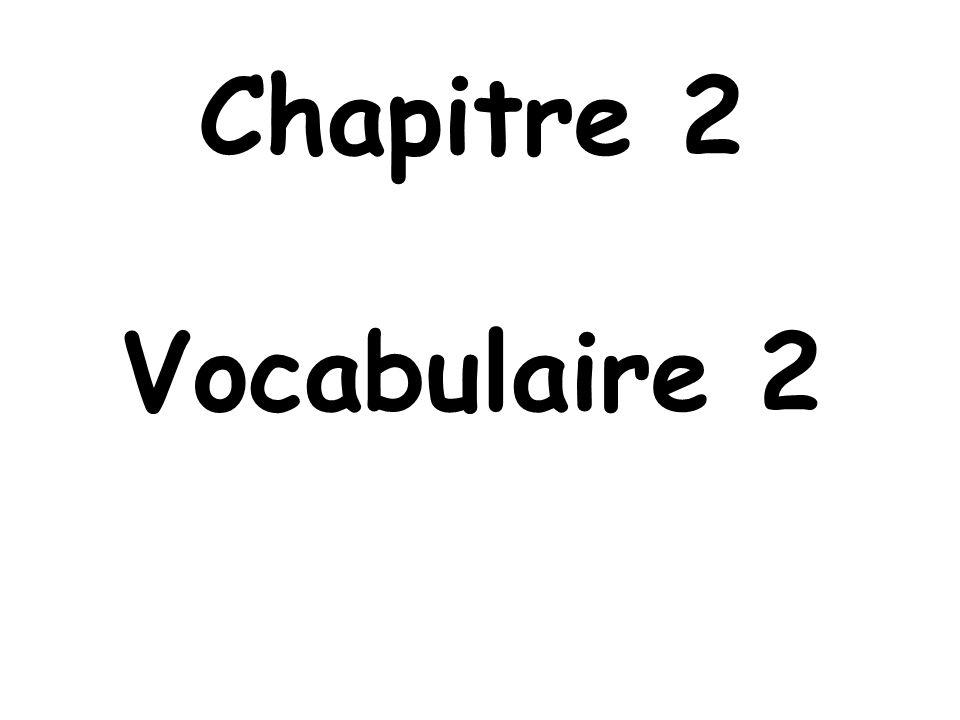 Chapitre 2 Vocabulaire 2