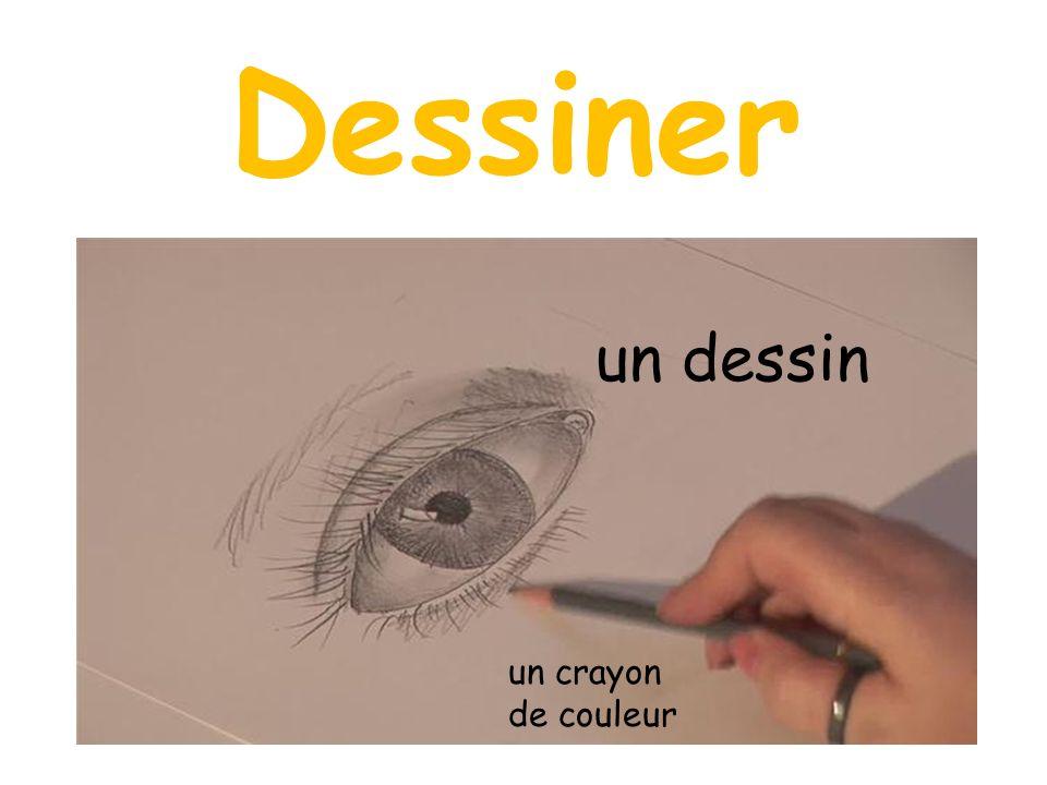 Dessiner un dessin un crayon de couleur
