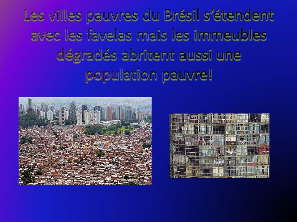 Les villes pauvres du Brésil s'étendent avec les favelas mais les immeubles dégradés abritent aussi une population pauvre!