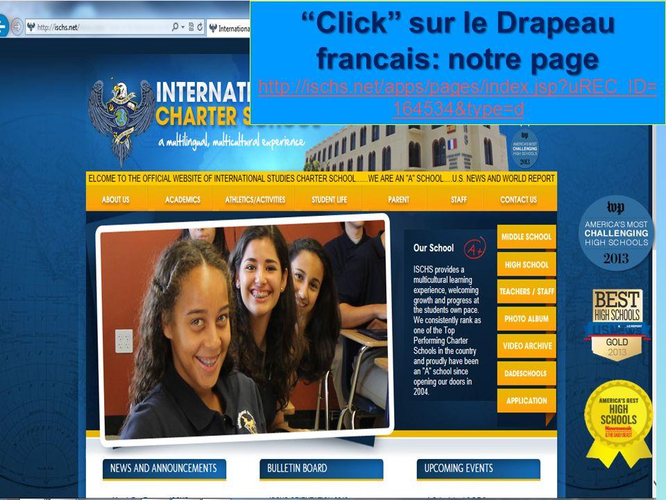Click sur le Drapeau francais: notre page