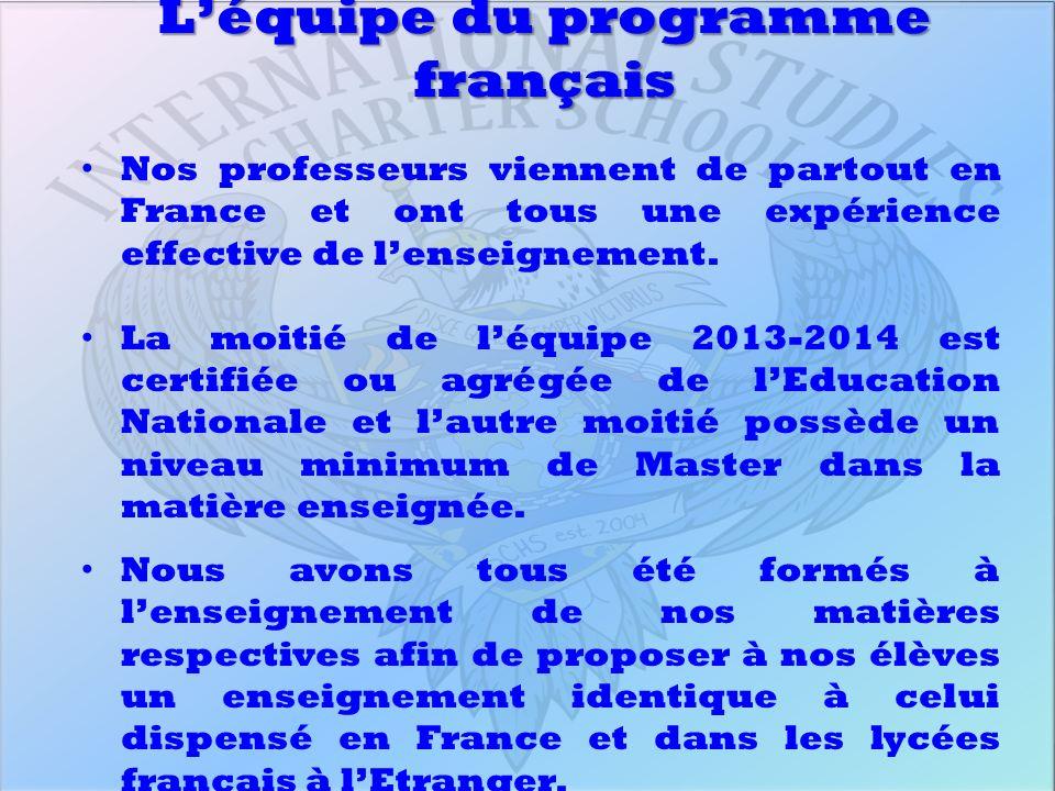 L'équipe du programme français