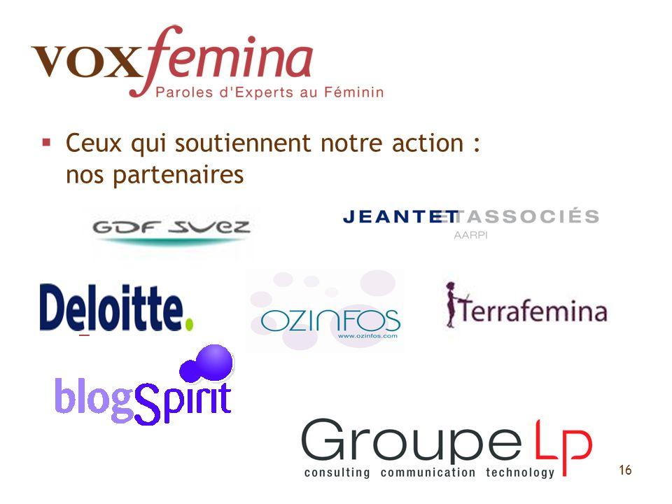Ceux qui soutiennent notre action : nos partenaires