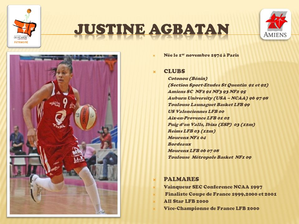 Justine agbatan CLUBS PALMARES Vainqueur SEC Conference NCAA 1997