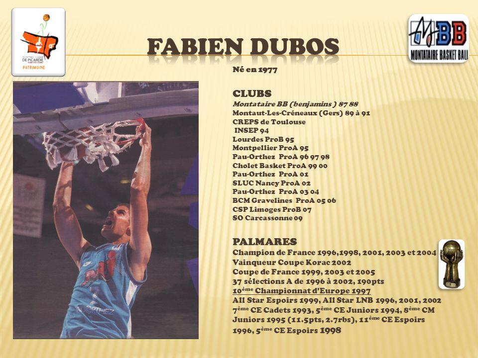 Fabien dubos CLUBS PALMARES Né en 1977