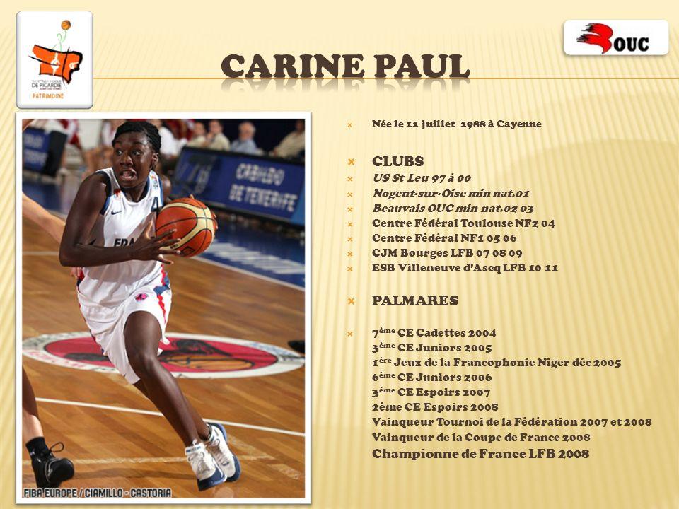 CARINE PAUL CLUBS PALMARES US St Leu 97 à 00