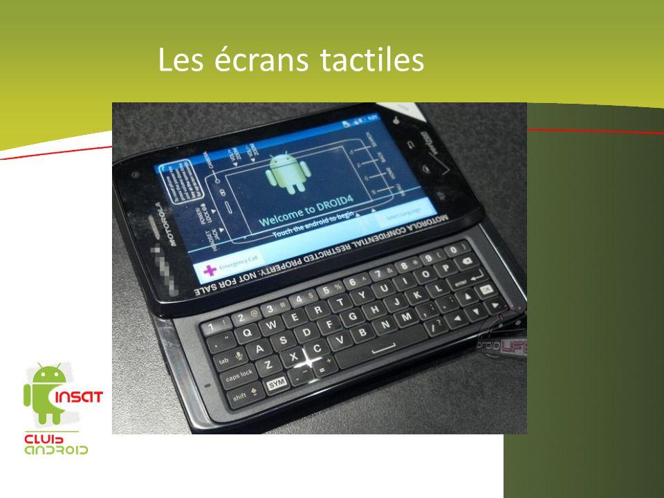 Les écrans tactiles amir