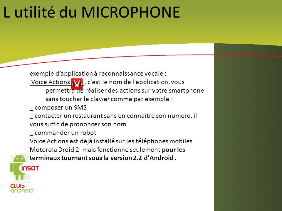 L utilité du MICROPHONE