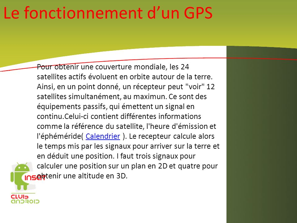 Le fonctionnement d'un GPS