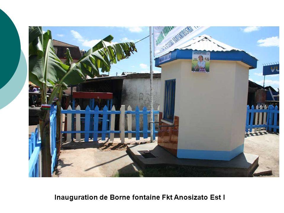 Inauguration de Borne fontaine Fkt Anosizato Est I