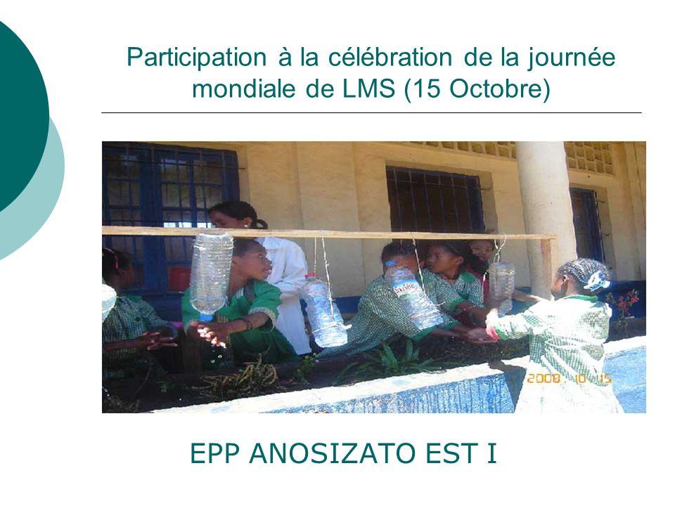 Participation à la célébration de la journée mondiale de LMS (15 Octobre)