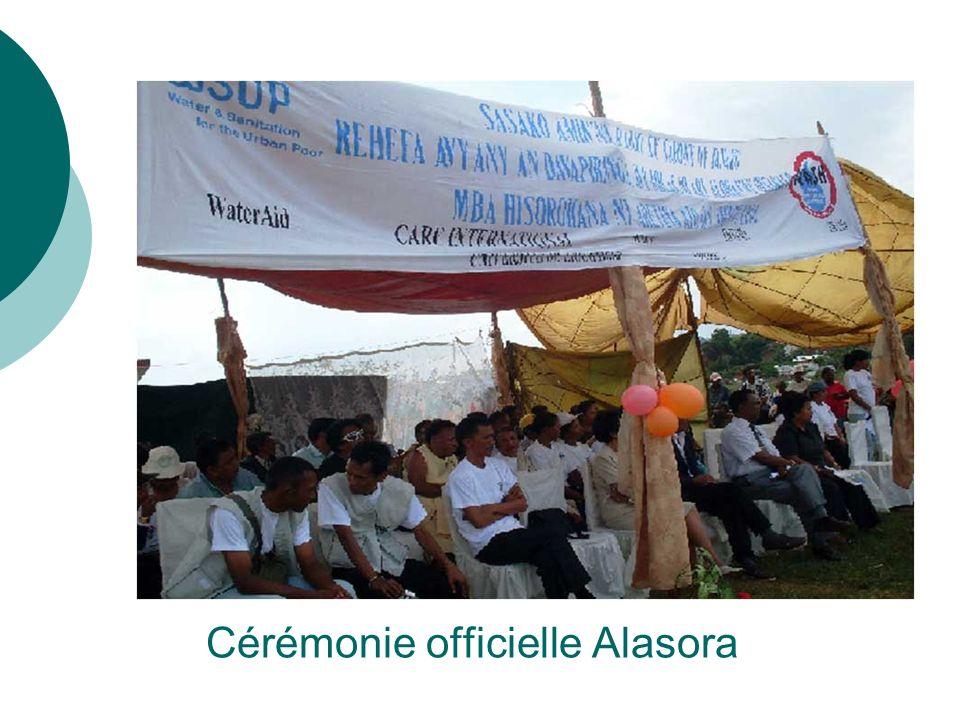 Cérémonie officielle Alasora