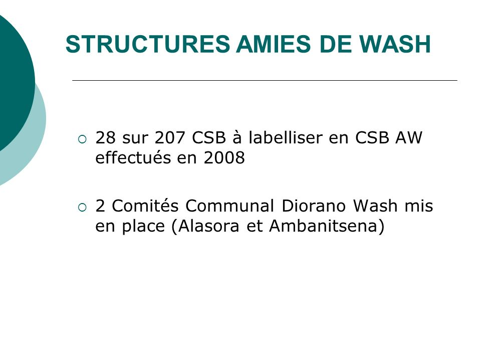 STRUCTURES AMIES DE WASH
